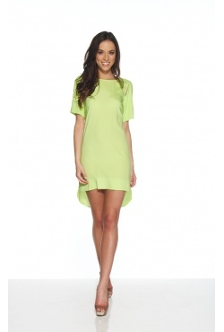 White Suede - Silk Sports Dress Lime. Borrow for $69 p/w