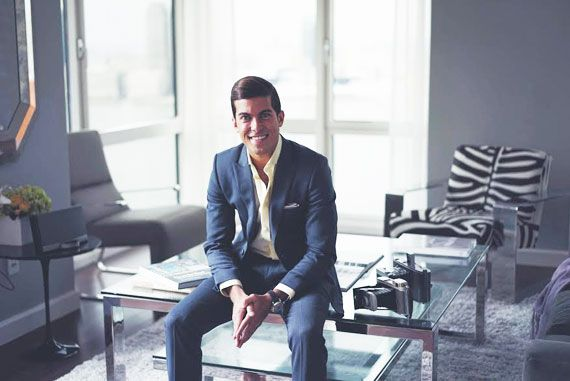 """Luis D. Ortiz of """"Million Dollar Listings NY"""" at his Battery Park City home designed by QUADRA"""