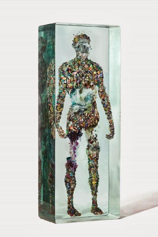 """psychogeographies"" series by dustin yellin"