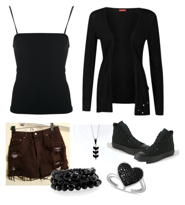 """Dark Jack Frost (girl version )"" by geekeryclothing ❤ liked on Polyvore featuring Influence, Giorgio Armani, Levi's and Converse"