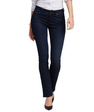 A contoured waistband plus a roomier fit through the thigh and back equals a pair of jeans that's ahead of the curve when it comes to fit. Slightly stretchy to boot, they may just become your favorites.