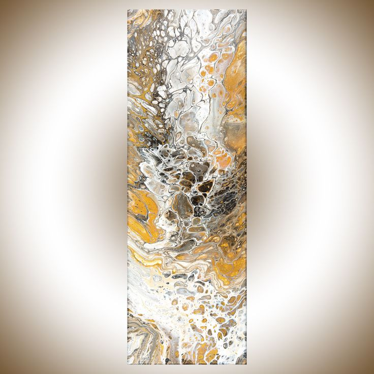 This painting is a unique original artwork that I will not be able to re-create. One and only! Title: Gold Treasure SIZE: 24 x 8 x 0.8 **SHIPPING: Canada Post Expedited to US or Canada. Your art will be shipped to you professionally packed with protective packaging material. If you are