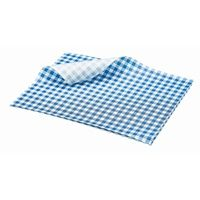 Greaseproof Paper Gingham Print Blue 25x20cm