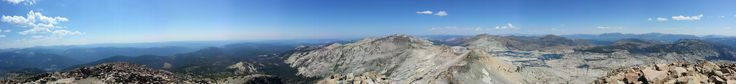 360 panoramic from the top of pyramid peak in California Desolation Wilderness #hiking #camping #outdoors #nature #travel #backpacking #adventure #marmot #outdoor #mountains #photography