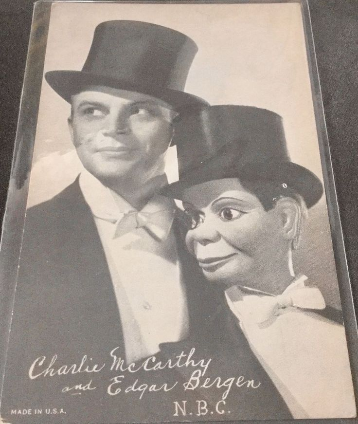 CHARLIE McCARTHY and EDGAR BERGEN  * N.B.C.  * Signed on front