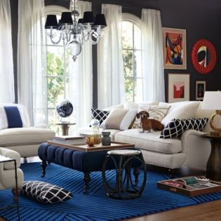 Serena U0026 Lily Living Room With Strata Hand Tufted Rug In Cobalt Part 43
