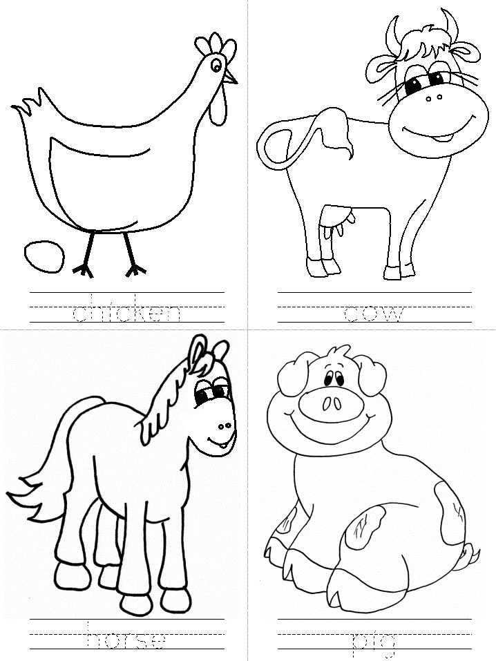 coloring pages with writing on the farm theme farm activities