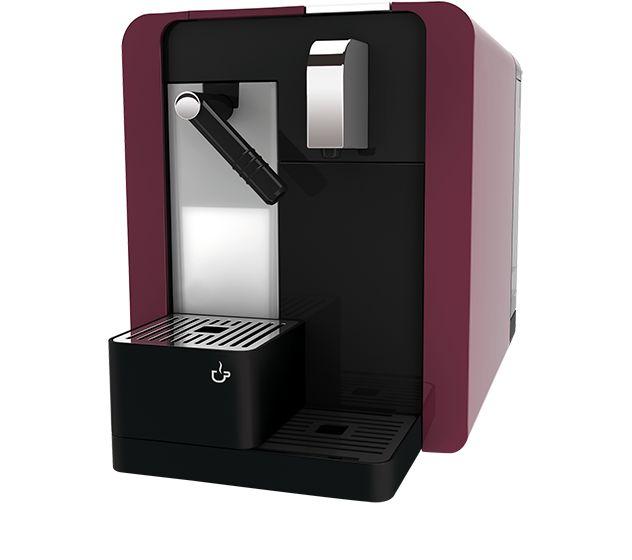Machine à café Delizio Caffè Latte burgund silber, inclinée