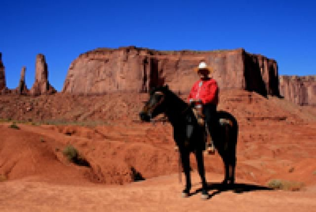 Monument Valley - What You Need to Know About Visiting: Navajo Rider at Fords' Point, Monument Valley