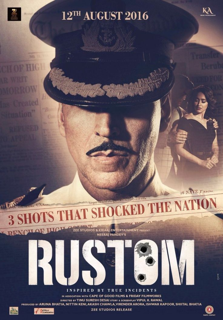 rustom movie first look poster… Rustom Akshay kumer