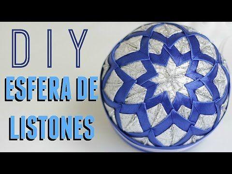 COMO HACER UNA ESFERA DE NAVIDAD, FACIL Y BARATA! /DIY PATCHWORK CHRISTMAS ORNAMENT - YouTube