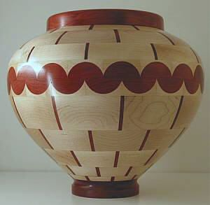 woodturning,segmented woodturnings,wood turning [The half-rounds add a punch to a simple segmented project]