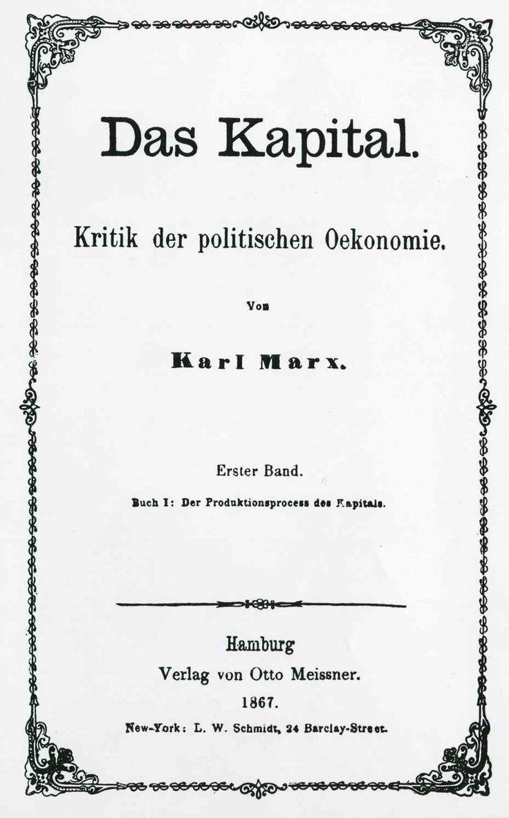 Il Capitale fu pubblicato nel 1867. Questa opera di Marx mette in luce i meccanismi strutturali della società borghese e il suo scopo è quello di svelare la legge economica del movimento della società moderna.