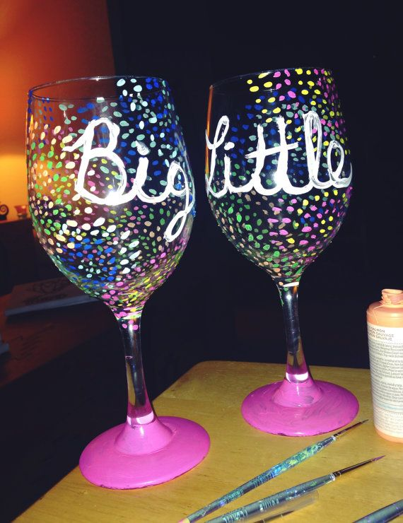 Perfect for any sorority match are in heaven anywhere! Celebrate your little or your big with these matching glasses! Great as a big little