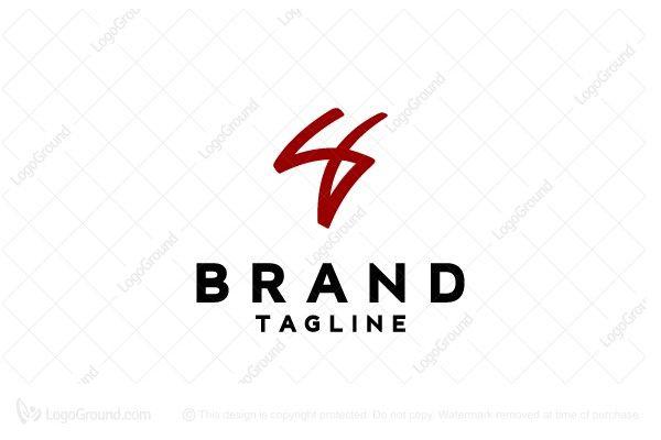 S4 Monogram Logo Monogram Logo Paper Logo Typographic Logo