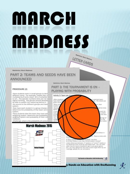Are you ready for March Madness? Probability and statistics applied to real-life. What could be better? Full tournament STARTS 3/19.  There's still time to get in on the fun.