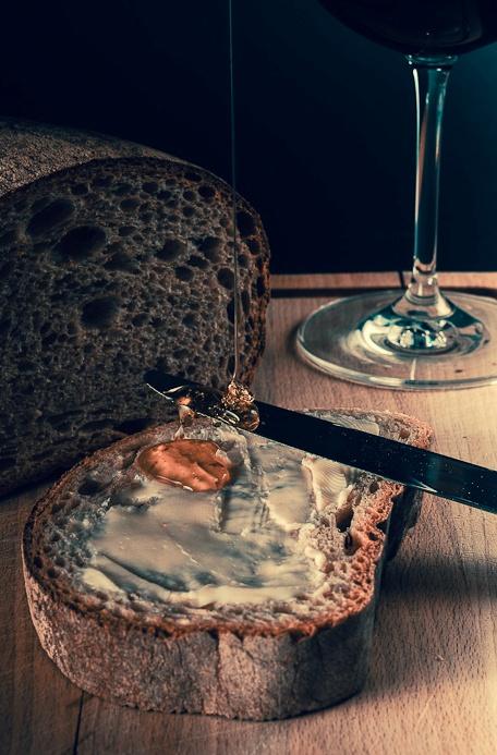 Butterbrot mit Honig