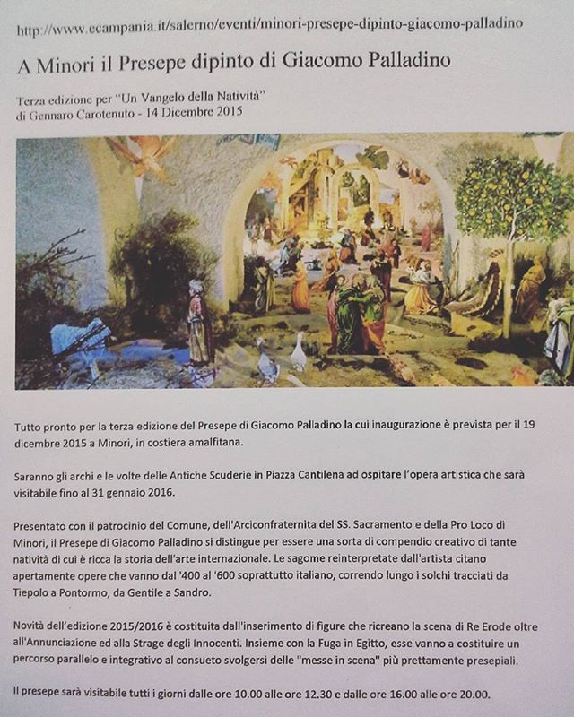 Dalla rassegna stampa del Presepe Dipinto di Giacomo Palladino