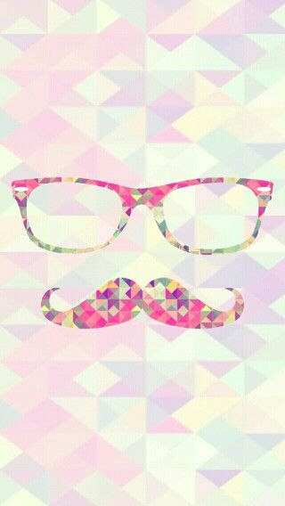 Hipster glasses moustache pink girl wallpaper cute kawaii smartphone iphone galaxy