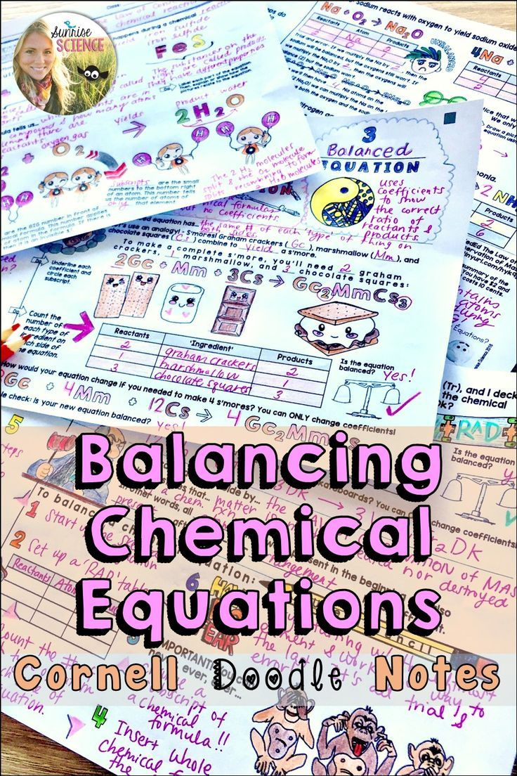Balancing Chemical Equations Cornell Doodle Notes Distance Learning Doodle Notes Science Teaching Resources Teaching Chemistry [ 1104 x 736 Pixel ]