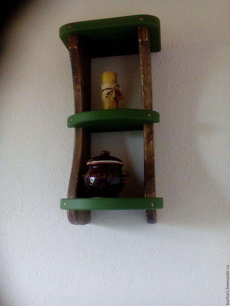 """Купить Полка вертикальная""""Деревенская"""" - комбинированный, мебель ручной работы, мебель из дерева, мебель для дачи"""