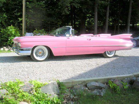 1959 Series 62 Cadillac Convertible. Pink!!