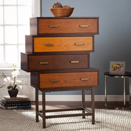 Southern Enterprises Kylie Midcentury Storage Cabinet, Espresso
