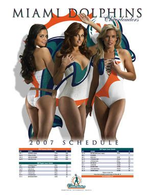Miami Dolphins Cheerleaders | Miami Dolphins Cheerleaders Poster – Hot! | The Sports Posters Blog