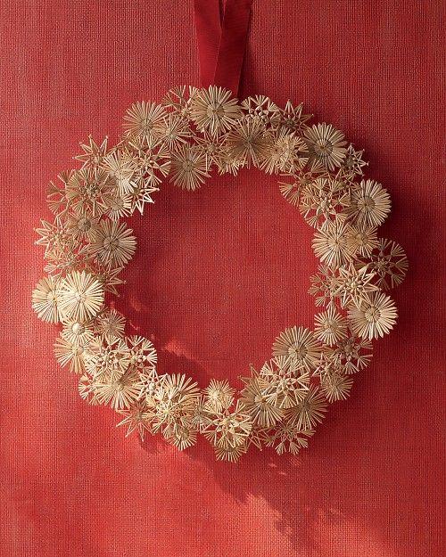Straw Star Wreath