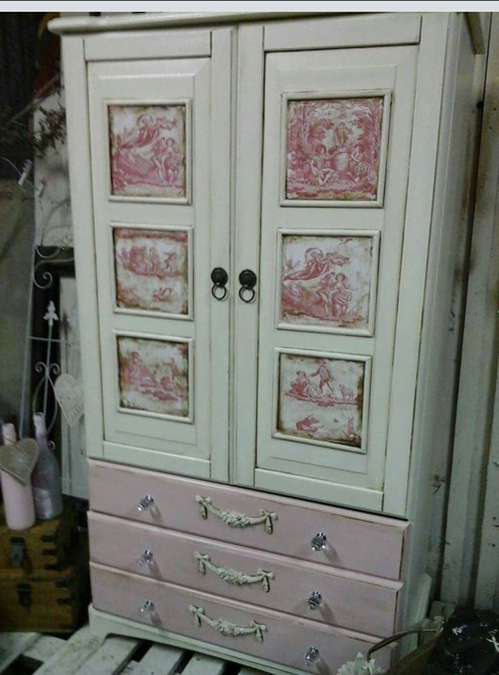 Customer Verina Walsh did an amazing job on this old wardrobe  and our furniture mouldings/appliques were the perfect finishing touch . available here with worldwide delivery https://www.shabby.ie/product/rose-swag-and-drop-wholesale-prices-direct-to-the-public