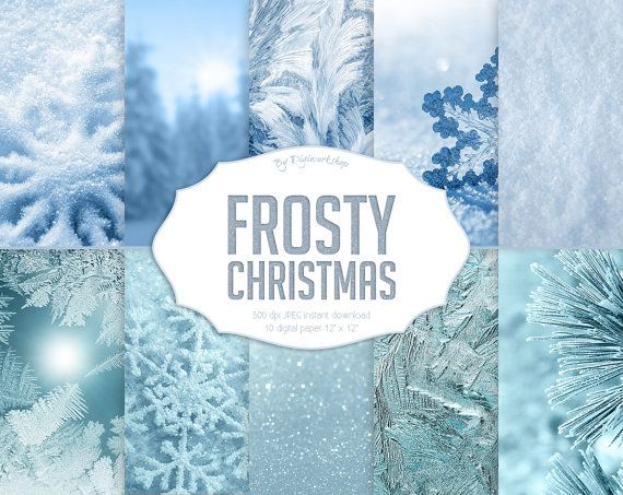 """#Christmas digital paper: #FROSTY CHRISTMAS  10 Christmas Digital Paper set """"FROSTY CHRISTMAS"""" with Christmas and winter #backgrounds, holiday textures and x-mas backdrops.  T... #etsy #digiworkshop #scrapbooking #illustration #creative #clipart #printables #cardmaking #christmas #xmas #holidays #frosty #frozen #backdrop"""