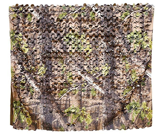 Auscamotek 300d Camo Netting Camouflage Netting 5x20 Feet Hunting Blinds Material For Ground Portable Blind Streestand Army Hunting Blinds Woodland Camo Blinds