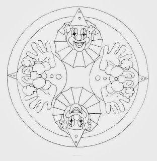 17 best images about mandalas de personnages on pinterest friendship coloring and mandala - Mandala carnaval ...