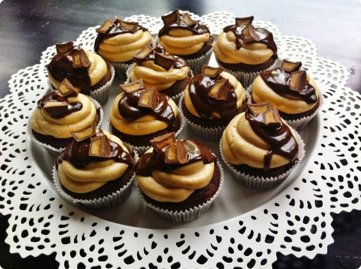 SUGARTOWN: Brownies-arašídové cupcakes