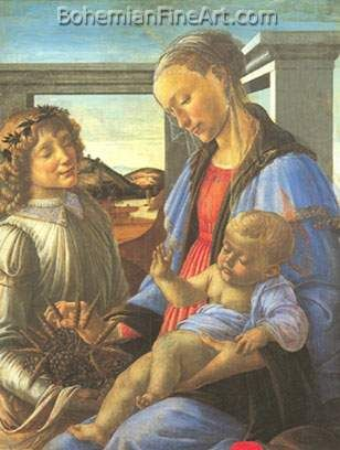 Sandro Botticelli, The Virgin and Child with an Angel Fine Art Reproduction Oil Painting