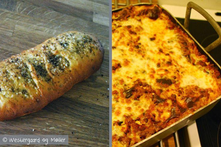 Mad for Madelskere: Lasagne med oreganobrød