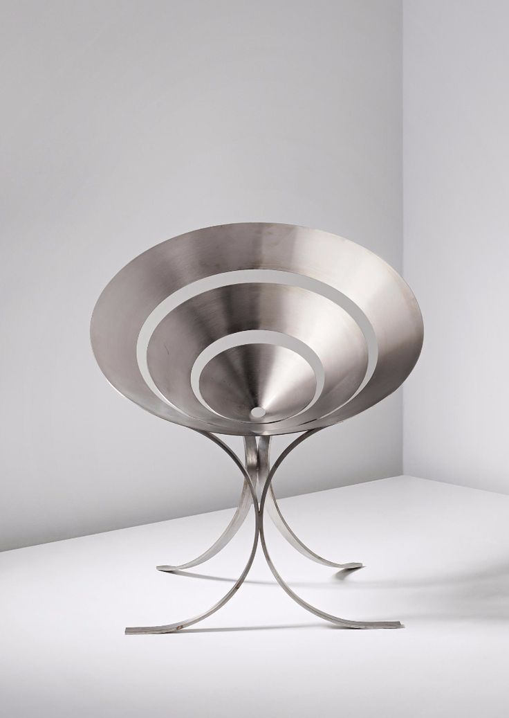 Maria Pergay; Stainless Steel 'Ring' Chair by Design Steel, c1968.
