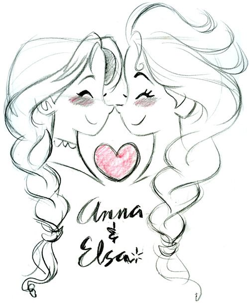 Anna and Elsa - Frozen (C) DISNEY Something cute for Monday. ;)
