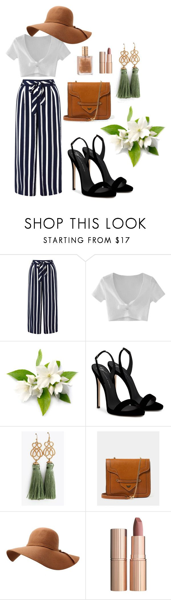 """""""summer outfit"""" by trinh131096 on Polyvore featuring mode, Monsoon, WithChic, Giuseppe Zanotti et Charlotte Tilbury"""