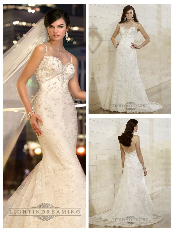 Spaghetti Staps Slim-line Beaded Lace Appliques Low Back Wedding Dresses http://www.ckdress.com/spaghetti-staps-slimline-beaded-lace-appliques-  low-back-wedding-dresses-p-498.html  #wedding #dresses #dress #lightindream #lightindreaming #wed #clothing   #gown #weddingdresses #dressesonline #dressonline #bride