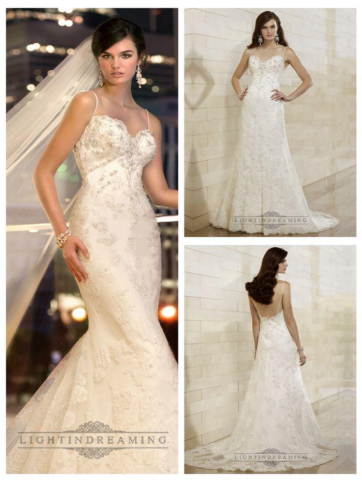 Spaghetti Staps Slim-line Beaded Lace Appliques Low Back Wedding Dresses http://www.ckdress.com/spaghetti-staps-slimline-beaded-lace-appliques-  low-back-wedding-dresses-p-498.html  #wedding #dresses #dress #lightindream #lightindreaming #wed #clothing   #gown #weddingdresses #dressesonline #dressonline #bride