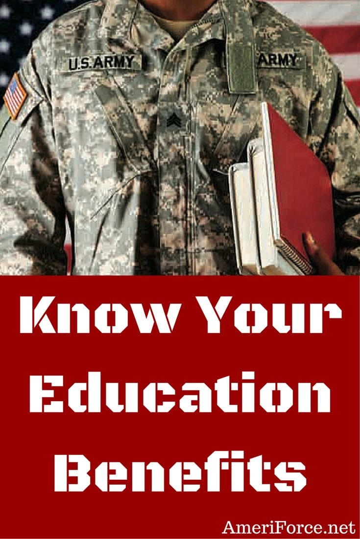 Know Your Education Benefits - For active duty military, reserves, and National Guard