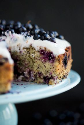 Blueberry, Lemon & Almond Cake