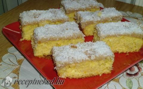 Kókuszos-karamellás sütemény recept fotóval