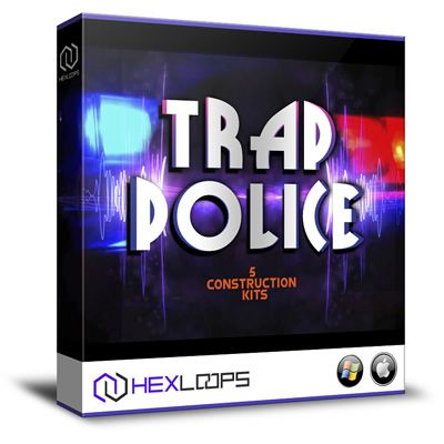 Hex Loops presents Trap Police, a sonic collection of 5 new Trap construction kits samples, all filled with 24Bit wav Acid loops and MIDI files for each beat.