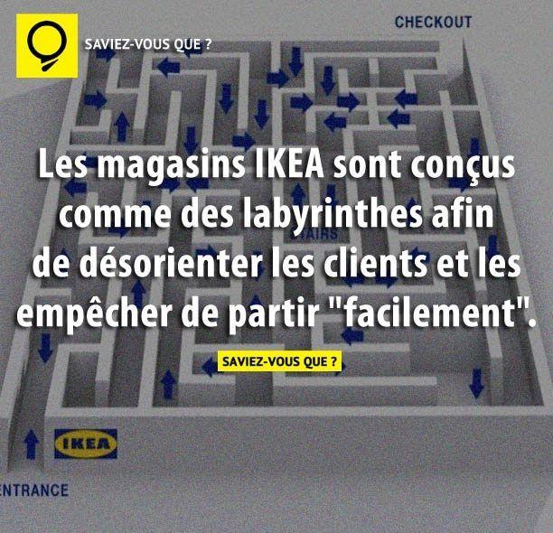 Les magasins IKEA sont conçus comme des labyrinthes afin de désorienter les clients et les empêcher de partir «facilement». | Saviez Vous Que?