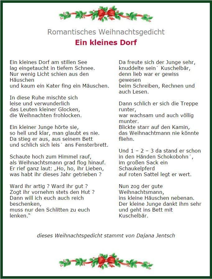 Romantisches Weihnachtsgedicht Weihnachtsgedichte Gedicht Weihnachten Weihnachten Geschichte