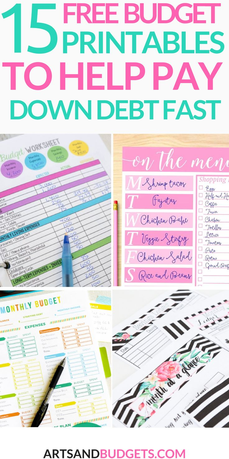 15 free budget templates that will help pay down debt fast