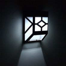 2017 Promoción de La Fábrica Solar Powered Wall Mount Luces LED Impermeable Al Aire Libre Del Jardín Del Paisaje Yard Cubierta Lámpara Frío/Caliente Blanco(China (Mainland))