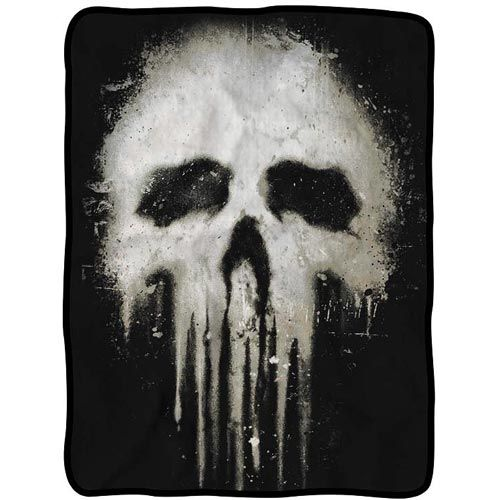 Punisher Skull Fleece Throw Blanket - DreamZone World